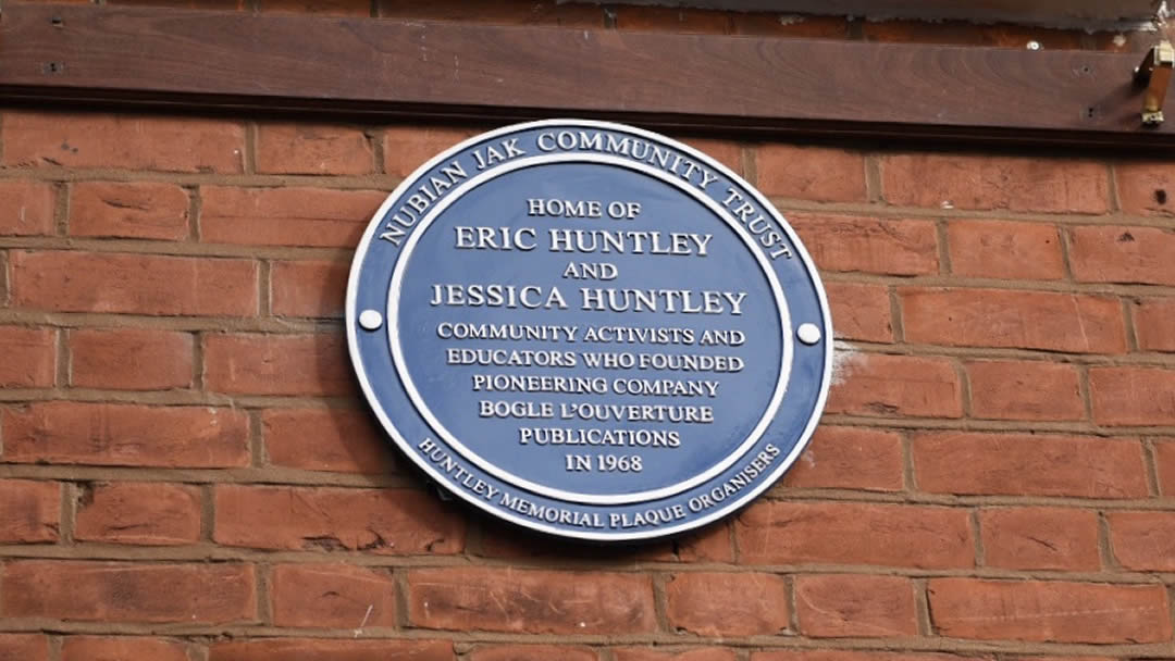 Eric and Jessica Huntley Nubian Jak Blue Plaque Unveiling